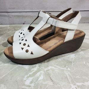 Hotter Comfort Wedge Sandals Rosebay Sz 7